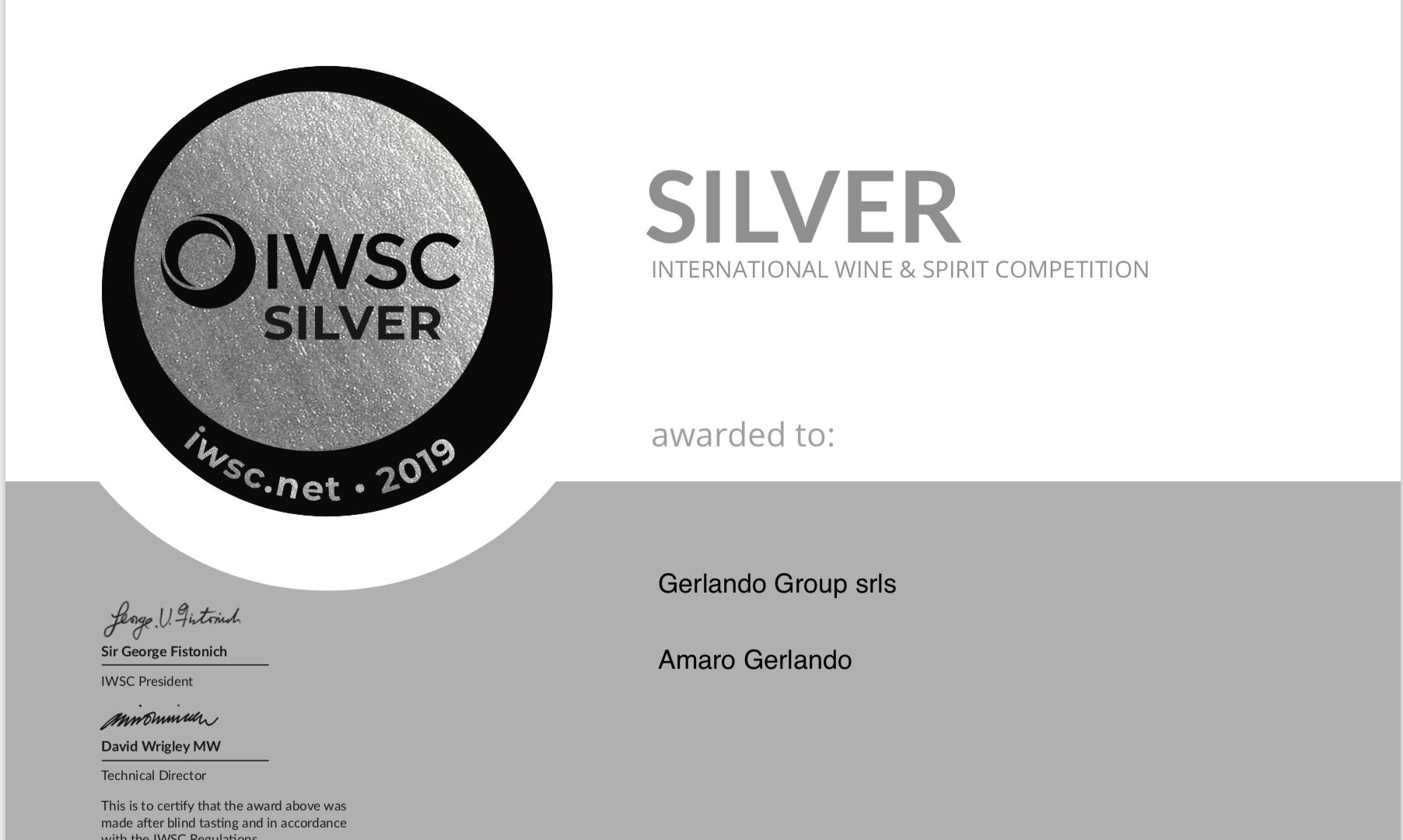 Premio-Silver-IWSC-Gerlando